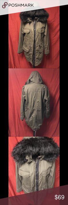 93747d9cf23 NWT H M khaki green cotton parka size 16.