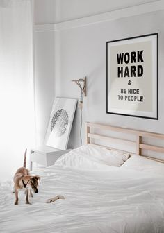 Work Hard and Be Nice to People Canvas or Unframed Print - Work Hard Poster - Be Nice to People - Office Decor - Motivational Quote Home Decor Bedroom, Living Room Decor, Bedroom Ideas, Teen Bedroom, Living Rooms, Bedrooms, Nursery Wall Art, Nursery Decor, Wall Decor