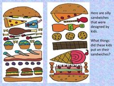 Art Sub Plan - Silly Sandwich by Art Sub Lessons Art Sub Plans, Art Lesson Plans, Survival Project, Survival Tips, Teacher Survival, Survival Stuff, Drawing For Kids, Art For Kids, Kindergarden Art