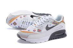 reputable site 6f96f dc9ee 2015 Nike Ultra Air Max 90 Femmes Essentiel Formateurs Blanc Jaune Noir  TAILLE UK3-6 724981-004