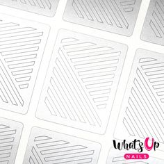 Whats Up Nails - Slanted Lines Stencils from WhatsUpNails.com @whatsupnails