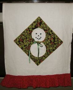 Snowman Holiday Towel from Brother | FaveCrafts.com