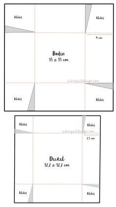 stampin-up-box-geschenk-plan-anleitung-schnipseldesign-osterreich - New Ideas Diy Gift Box, Diy Box, Christmas Origami, Christmas Diy, Diy Gifts Last Minute, Stampin Up Anleitung, Diy Crafts To Do, Useful Origami, Origami Box