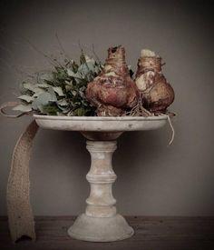 Houten schaal op voet ....~ Rustic Living by GJ * ~