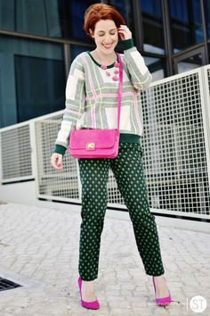 Pink Blazer Color Pop Street Style 04 - pictures, photos, images