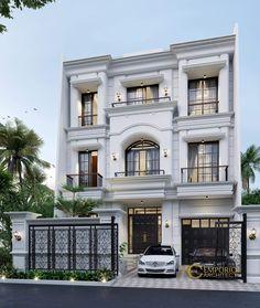 Classic House Exterior, Classic House Design, Modern Exterior House Designs, Design Your Dream House, Dream House Exterior, Modern House Design, House Outside Design, House Front Design, 3 Storey House Design