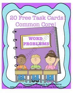 20 Math Word Problems! Free! Early Finishers! Common Core! from Kimberly Sullivan on TeachersNotebook.com -  (10 pages)  - A great way to review the basics! Math centers, small groups, individualized instruction, peer tutoring, homeschool, or just for fun!
