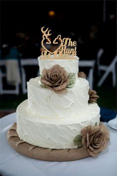 Weddbook is a content discovery engine mostly specialized on wedding concept. You can collect images, videos or articles you discovered organize them, add your own ideas to your collections and share with other people | This Wedding cake topper rustic the hunt is over, deer wedding cake topper - Country Wedding Cake Topper - shabby chic- redneck - cowboy - outdoor - western - acrylic offers a unique way of expressing your love on your special day. Thank you so much for visiting my shop!