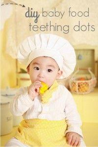 DIY baby food teething dots.  No more wasting leftover baby food!