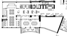 restaurant interior design floor plan - Tìm với Google