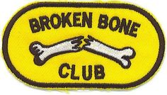 Broken Bone Club Patch Motorcycle Biker Patch