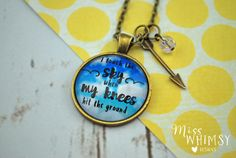 I Touch The Sky When My Knees Hit The Ground Christian Necklace