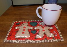 Gingerbread Couple Mug Rug Pattern project on Craftsy.com