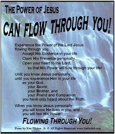 The POWER of JESUS Can Flow Through You!
