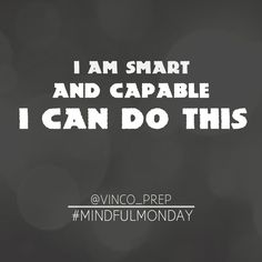 "Affirmations are you being in control of your thoughts.When you say them, think them, or hear them, they become the thoughts that create your reality. Every Monday in June I am going to give you a positive affirmation to use for the bar exam. This week's: ""I am smart and capable and I can do this"" #mindfulmonday #mindsetguru #vinco #vincoprep #bar #barexam #barexamprep #barreview #nybarexam #njbarexam #law #lawyer #lawstudent #lawschool #1L #2L #3L"