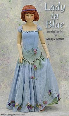 Lady In Blue 16.5 Inch Tall Felt Doll Edition Size: 1 Created in 2002