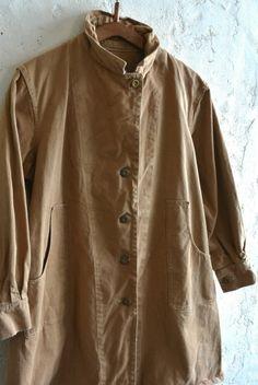 【1940's イギリス軍 ワークコート ベージュ】 - 山形、仙台のヨーロッパ古着屋【SQUAT】のWEB SHOP