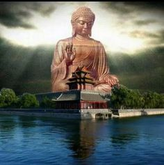 Buddha Life, Buddha Art, Peaceful Words, Buddha Garden, Zen Meditation, Fantasy Monster, Buddhist Temple, Fantasy Landscape, Japan Travel