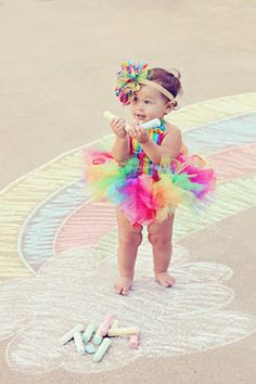 rainbow tutu outfit circus outfit first by 4theprincessboutique, $55.00