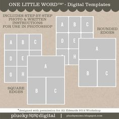 plucky momo: FREE One Little Word 2014 DIGITAL Templates