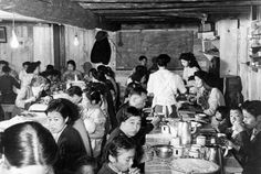 This is a picture showcasing the Japanese interment camps in Canada. These people faced hatred and racism, sparked from the bombing at pearl harbor. They would be separated from their family, taken away from their property, and forced into internment camps.