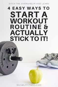 Here are 4 helpful tips that will help you get started with a new workout routine and better yet keep you going! By starting slow and keeping things simple, you'll be able to start working out and you may even enjoy it! Senior Fitness, Fitness Tips, Fitness Goals, Fitness Motivation, Exercise Motivation, Yoga Fitness, Home Exercise Routines, At Home Workouts, Body Workouts