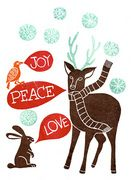 I love non-religious winter holiday cards, and this one is amazing! Beautiful stamps, lovely, wintery colors...