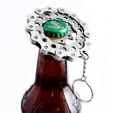Bottle opener  Recycled Cog and Chain Bicycle Bottle Opener