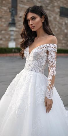 Wedding Dress Latest Wedding Gowns Moroccan Wedding Dress Best Mother Of The Bride Dresses Curvy Brides Boutique – lifangmall Off Shoulder Wedding Dress, Long Sleeve Wedding, Wedding Dress Sleeves, Modest Wedding Dresses, Off Shoulder Dress Hairstyle, Long Sleeve Bridal Dresses, Latest Wedding Gowns, Curvy Dress, Dress Hairstyles