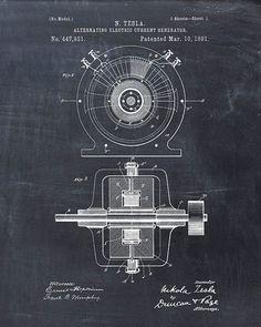 Patent of Tesla Generator #patentprints