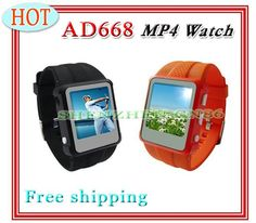 "Buy AD668 MP4 watch OLED 1.5""inch color screen ,FM Radio,recording, multilanguage, built-in 8GB music video player,Free shipping on Aliexpress.com"