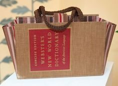 Make a Purse from a Recycled Book [VIDEO]