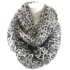 """B26 Gray Black Gold White Lurex Infinity Scarf Lurex Infinity Scarf ‼️PRICE FIRM‼️  Super stylish!  High quality.  29"""" wide, 21"""" long.  100% acrylic.  Please check my closet for many more items including clothing and jewelry. Boutique Accessories Scarves & Wraps"""