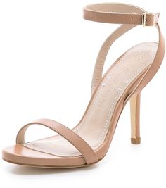Nude strappy heels for long or medium length dress. Nude tone always makes your legs look longer!
