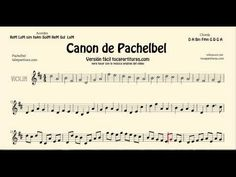 Pachelbel's Canon Sheet Music for Alto Saxophone Baritone Saxophone and Horn Classical Music - YouTube