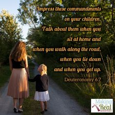 """As my kids tell me about their day and the challenges they've encountered, I weave God's character, his commands, and promises into the conversation. I want them to see their whole life is connected to God, not just Sunday mornings or """"quiet times."""" And I want them to value the wisdom of God's Word and apply it to what is going on in their daily life."""