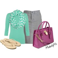 """""""ChevronMint"""" by modestlyme on Polyvore"""