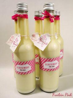 Vanillelikör mit weißer Schokolade Froilein Pink