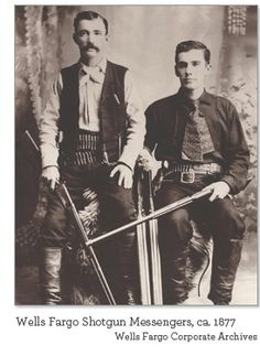 """In the late 19th and early 20th centuries, a shotgun messenger was a private """"express messenger"""" and guard, especially on a stagecoach but also on a train, in charge of overseeing and guarding a valuable private shipment, such as particularly the contents of a strongbox or safe. In the Old West of the 1880s, if a stagecoach had only a driver and no Wells Fargo messenger, this meant the coach carried no strongbox, and was thus a less interesting target for """"road agents"""" (bandits)."""