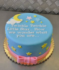 Twinkle, twinkle little baby gender reveal cake ideas