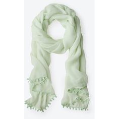 Ann Taylor Luxe Scarf ($30) ❤ liked on Polyvore featuring accessories, scarves, pistachio ice, silk shawl, silk scarves, ann taylor and ann taylor scarves