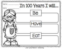 Just Wild About Teaching: Day & Grandparent's Day Combo Craftivity! - 100 Days of School 💯 Kindergarten Writing, Kindergarten Classroom, Writing Activities, Literacy, 100 Days Of School, School Holidays, School Fun, School Craft, First Grade Classroom