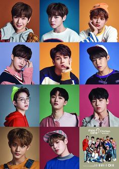 Wanna One x Mexicana Chicken ft. 3 In One, One Pic, Jinyoung, Groups Poster, Poster Poster, Ong Seung Woo, Ha Sungwoon, Produce 101, Guan Lin