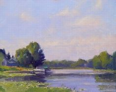 North Center Lake by Marc Hanson Oil ~ 8 x 10