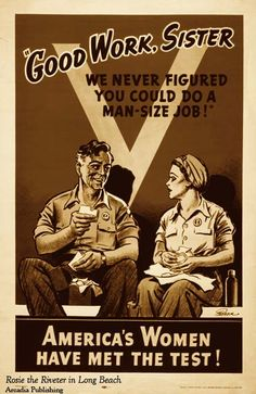 "Recruitment poster feature in ""Rosie the Riveter in Long Beach"""