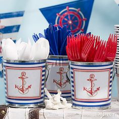 59 Best Ideas For Baby Shower Ideas For Boys Themes Nautical Sailboats Baby Shower Decorations For Boys, Boy Baby Shower Themes, Baby Boy Shower, Baby Shower Nautical, Cruise Theme Parties, Cruise Party, Sailor Baby Showers, Anchor Baby Showers, Boy Birthday Parties