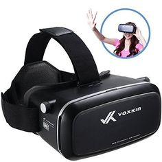 """Virtual Reality Headset 3D VR Glasses by Voxkin - High Definition Optical Lens, Fully Adjustable Strap, Focal and Object Distance - Perfect VR Headset for iPhone, Samsung and any Phones 3.5\"""" to 6\"""" *** For more information, visit image link."""