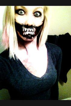 Halloween makeup 2012:)