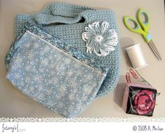 HOW TO - Sew a Lining into a Crocheted Bag