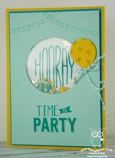 The Crafty Owl   Confetti Celebration Shaker Card